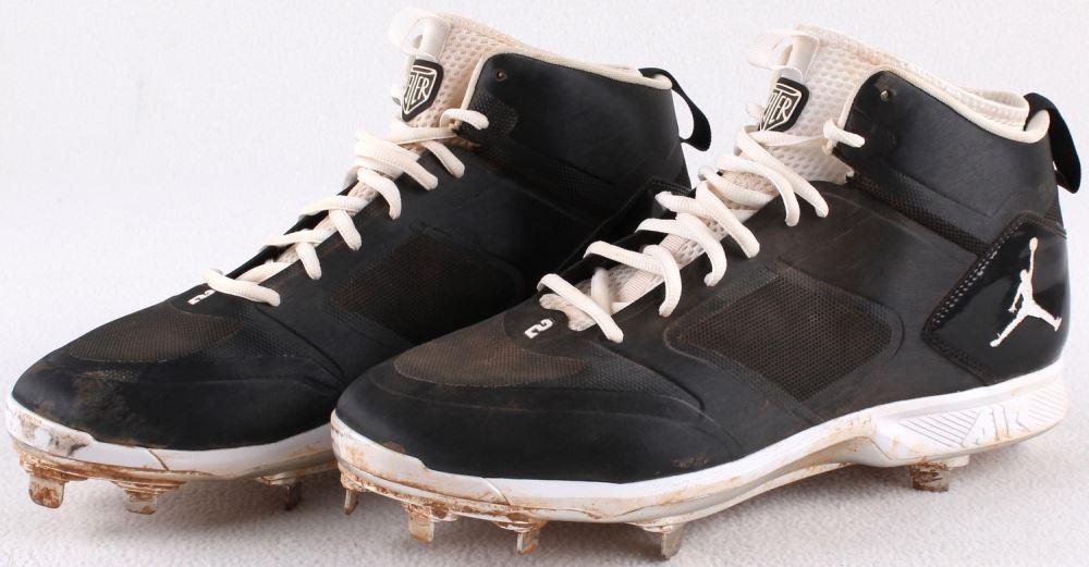 1a892342a Pair of (2) Derek Jeter 2014 Final Season Game-Used Nike Air Jordan ...
