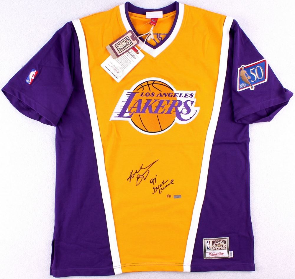 the best attitude ea79a 80e8d Kobe Bryant Signed LE Lakers Authentic Mitchell & Ness ...