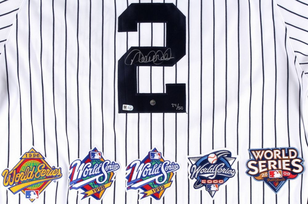 6de8c1f6a61 ... Image 2   Derek Jeter Signed LE Yankees Authentic Majestic Jersey with  (5) World ...