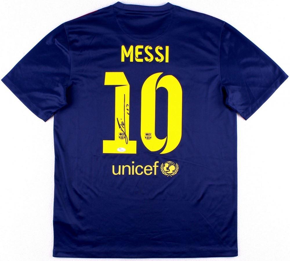 cheaper d9e62 3314c Lionel Messi Signed Barcelona Nike Authentic Soccer Jersey ...
