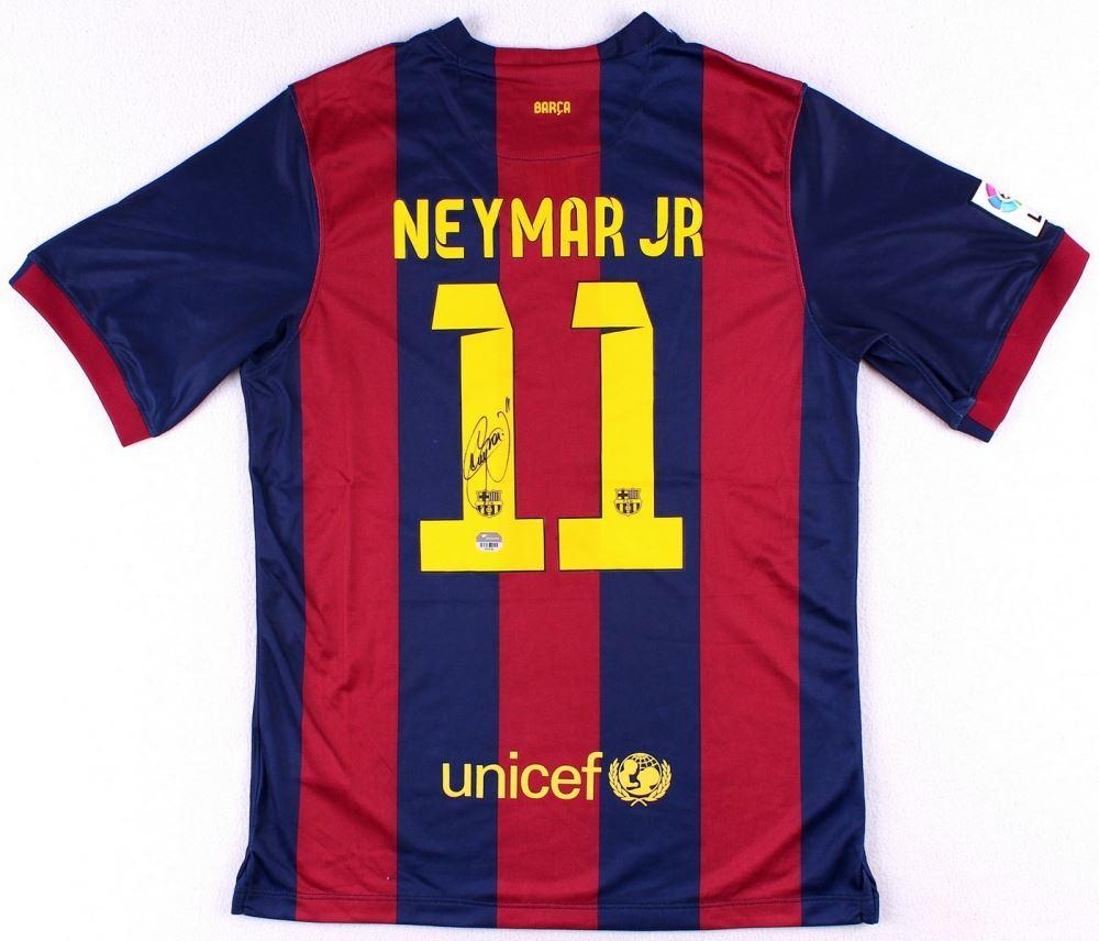 best sneakers 1708b e5aa1 Neymar Signed Barcelona Nike Authentic Soccer Jersey ...