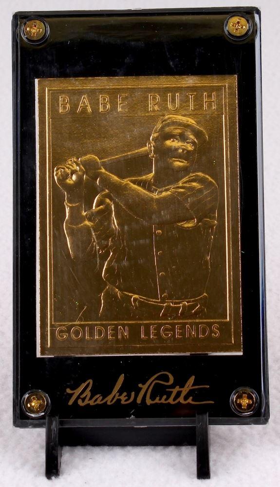 Babe Ruth Golden Legends Of Baseball 22 Karat Gold Baseball Card