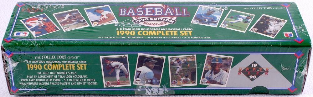 1990 Upper Deck Complete Set Of 800 Baseball Cards