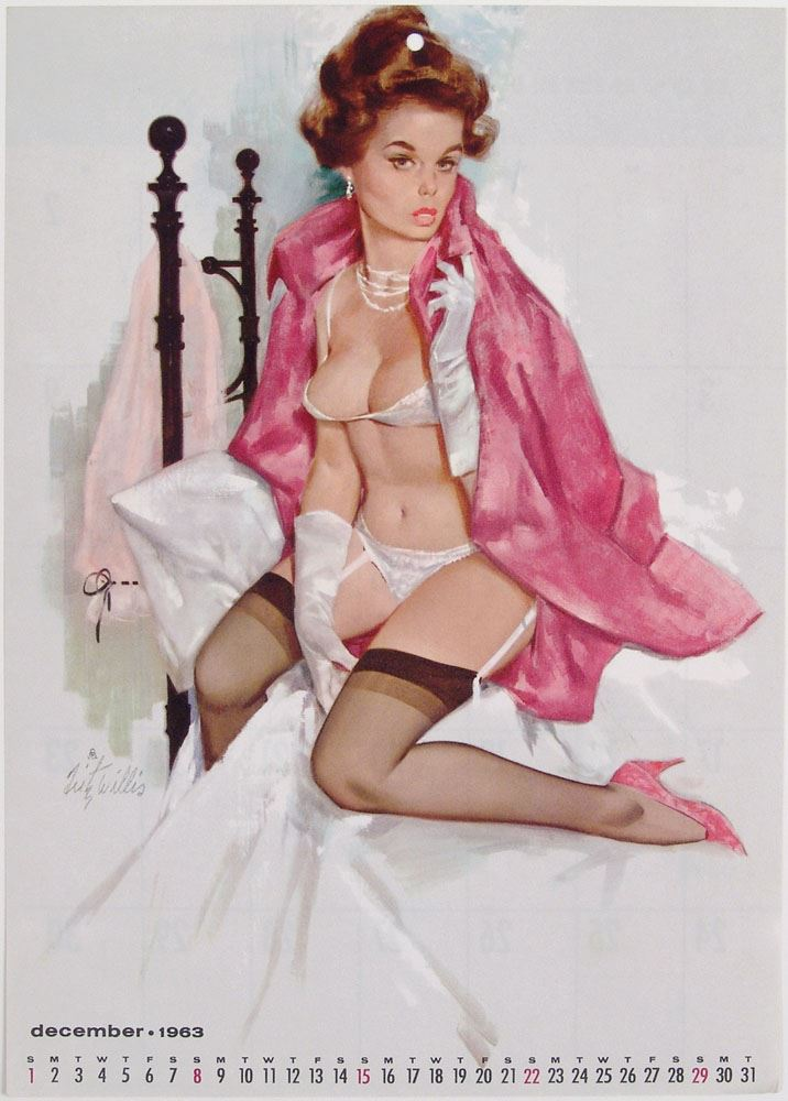 Fritz Willis Classic Pin up Girl Art Vintage Poster