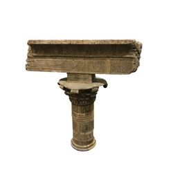 National Treasure Treasure Room Artifacts: Egyptian Column and Lintel
