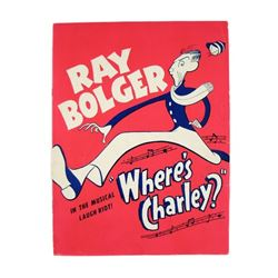Ray Bolger Signed Play Book