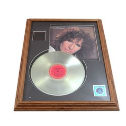 Barbra Streisand Gold Record