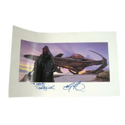 Star Wars Darth Maul Autographed Concept Art