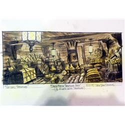 National Treasure Original Concept Painting of Treasure Hold of Ship