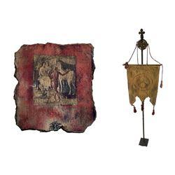 National Treasure Treasure Room Artifacts: Renaissance Banner and Fresco