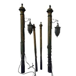 The League of Extraordinary Gentlemen Bollards and Lamps (Yellow with Green Flame)
