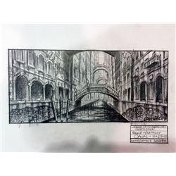 The League of Extraordinary Gentlemen Original Concept Drawing of Venice