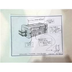 Iron Man Original Pencil Drawing of Tokamak Transformer