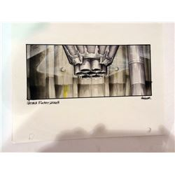 Gattaca Original Concept Painting of Rocket and Silo