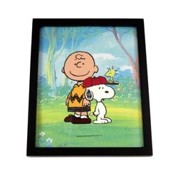 Peanuts Charlie Brown and Snoopy Hand Painted Animation Cel