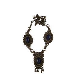 Prince Of Persia Sands Of Time Metal Blue Rock Necklace Movie Props