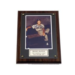 Mickey Mantle Yankees Signed Plaque