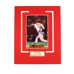 Pete Rose Reds Autographed Photo