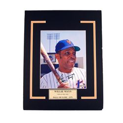 Willie Mays Mets Autographed Photo