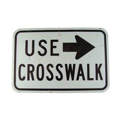 Pulp Fiction Metal Crosswalk Sign Movie Props