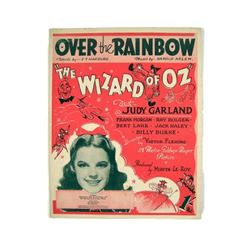 """The Wizard of Oz  """"Over The Rainbow"""" Judy Garland Sheet Music"""