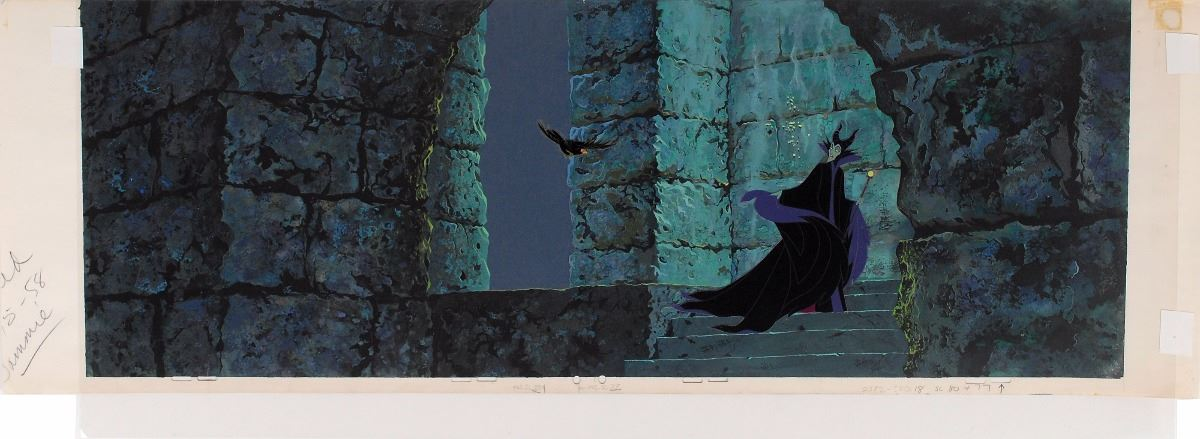 Maleficent And Diablo The Raven Production Cels And