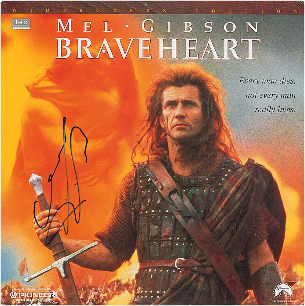 CERT PRINTED AUTOGRAPH LIMITED EDITION MEL GIBSON BRAVEHEART SIGNED PHOTOGRAPH