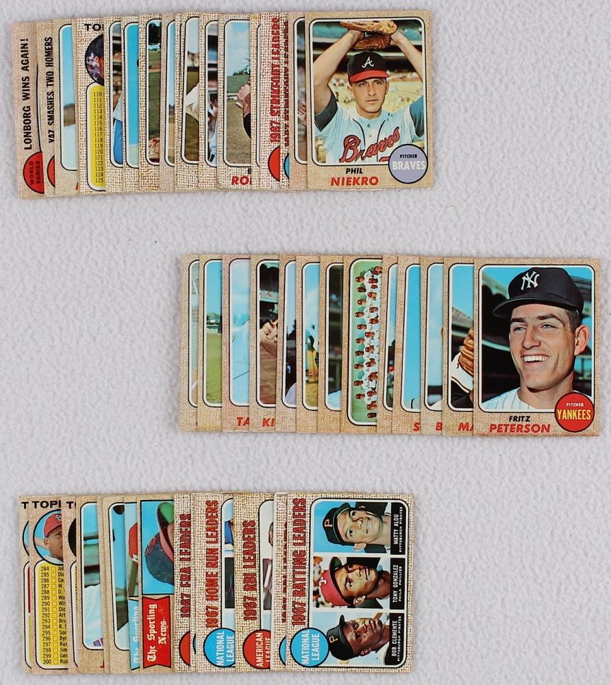 Lot Of 46 1968 Topps Baseball Cards With 240 Al Kaline