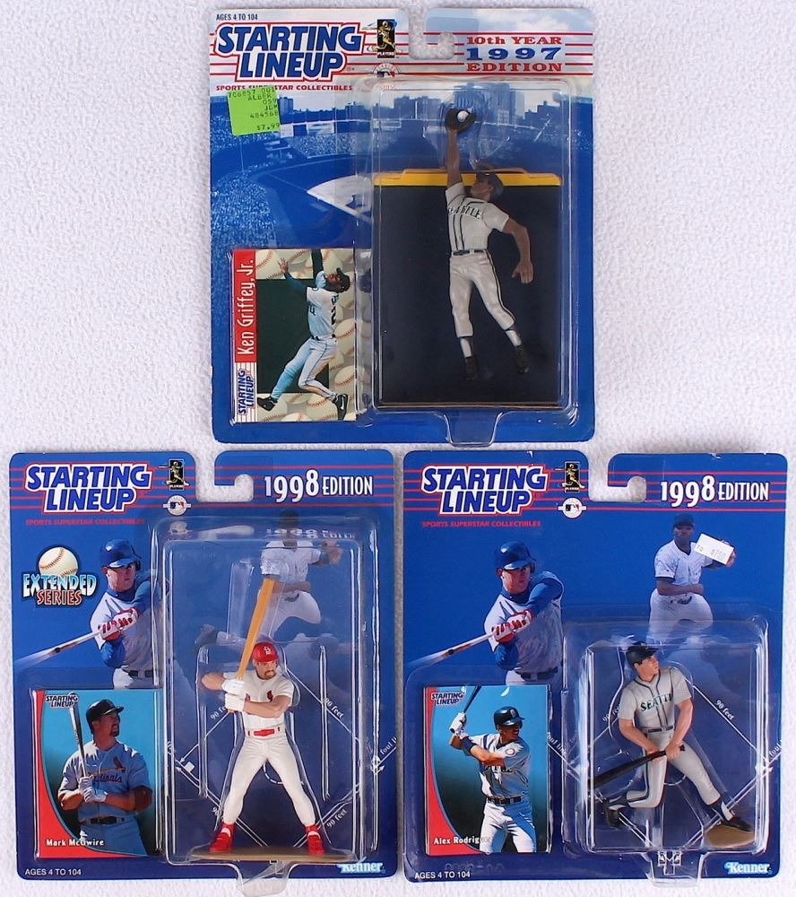 3127c692aa Lot of (3) Vintage Starting Lineup Figurines with Mark McGwire, Alex  Rodriguez &. Loading zoom