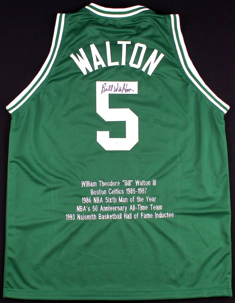 huge selection of 84ab6 8bf03 Bill Walton Signed Celtics Career Highlight Stat Jersey (JSA ...