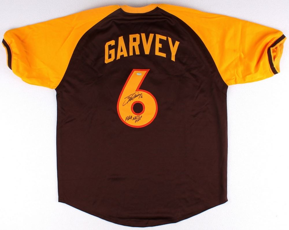 best sneakers da8b5 86ddc Steve Garvey Signed Padres Throwback Jersey Inscribed ...
