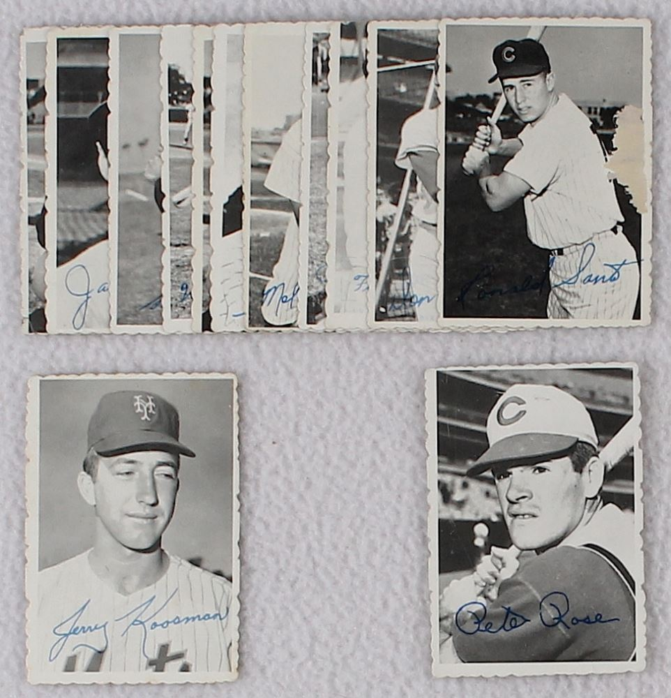 Lot Of 13 1969 Topps Deckle Edge Baseball Cards With 21 Pete