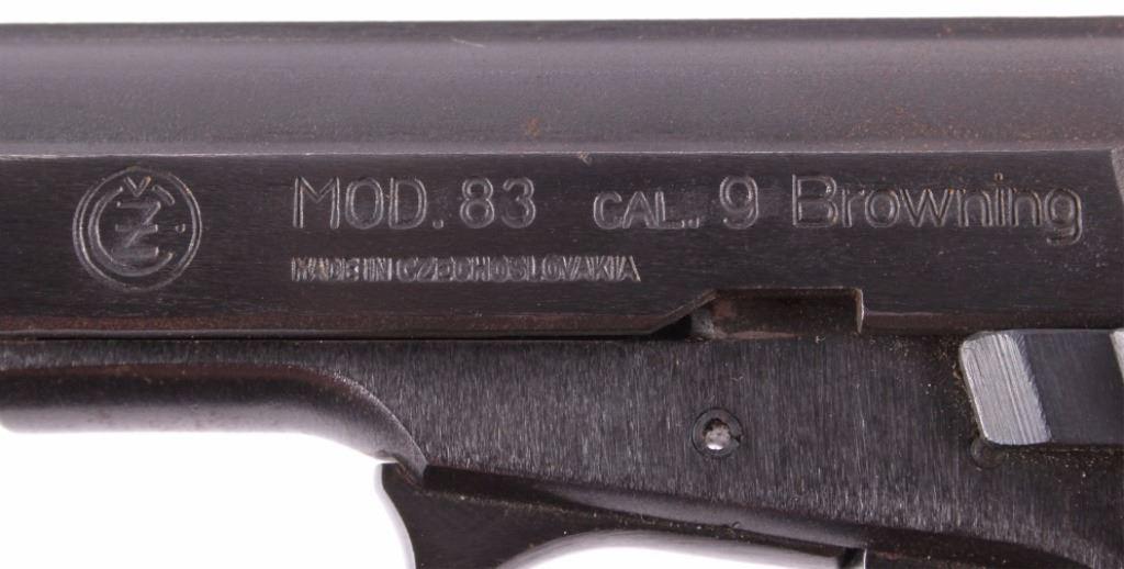 CZ Model 83 Cal  9 Browning Pistol