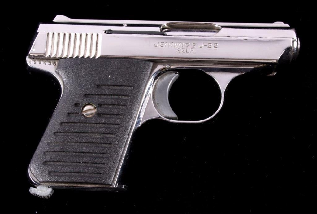 Bryco Jennings J-22  22LR Pistol Nickel Finish