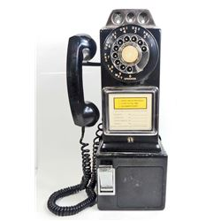 C. 1950'S AUTOMATIC ELECTRIC COMPANY COIN OPERATED PAY PHONE