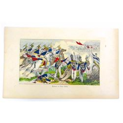 ANTIQUE HAND COLORED LITHO OF THE BATTLE OF PALO ALTO