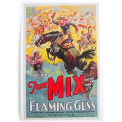 TOM MIX FLAMING GUNS MOVIE POSTER PRINT