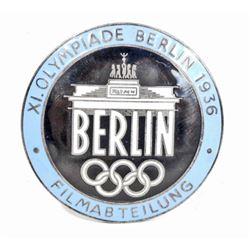 GERMAN NAZI BERLIN SUMMER OLYMPICS FILM MAKER BADGE
