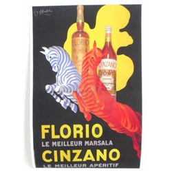 FLORIO CINZANO CAPPIELLO ART POSTER PRINT