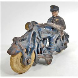 ANTIQUE CAST IRON CHAMPION MOTORCYCLE TOY