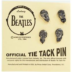 SET OF FOUR - THE BEATLES TIE TACK PINS
