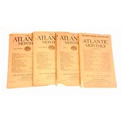 """LOT OF 4 1909-1910 """"ATLANTIC MONTHLY' MAGAZINE"""