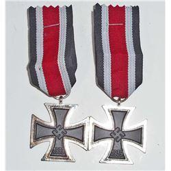 LOT OF 2 GERMAN NAZI 2ND CLASS IRON CROSSES