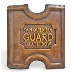 SAN QUENTIN DEATH ROW GUARD BRASS BELT BUCKLE