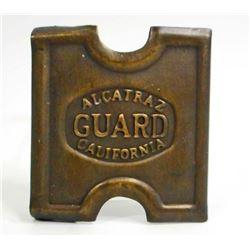ALCATRAZ CALIFORNIA GUARD BRASS BELT BUCKLE
