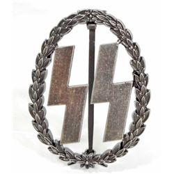 GERMAN NAZI WAFFEN SS RUNIC BREAST BADGE