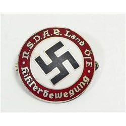GERMAN NAZI AUSTRIAN NSDAP POLITICAL SWASTIKA PARTY BADGE