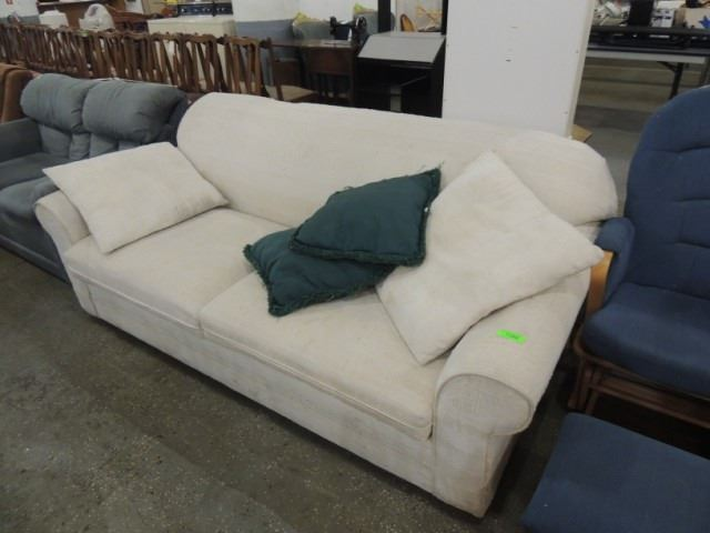 Fantastic Nice Off White 2 Cushion Sofa Couch Davenport Pdpeps Interior Chair Design Pdpepsorg