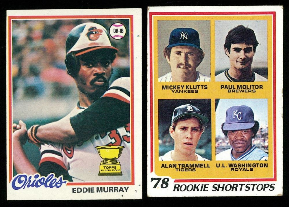 Lot Of 2 1978 Topps Baseball Cards With 36 Eddie Murray