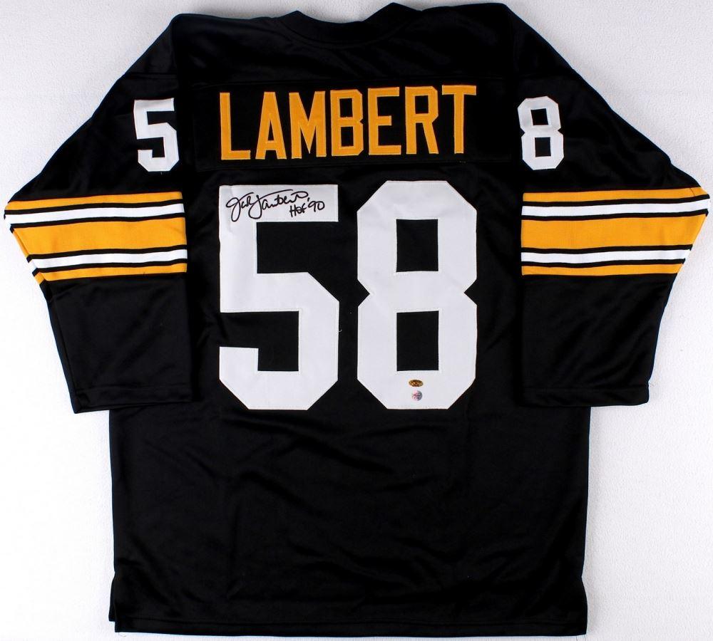 quality design beba5 f66ab Jack Lambert Signed Steelers Jersey Inscribed